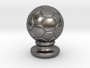 Soccer Ball Ornament in Polished Nickel Steel