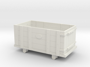 FR Four Plank Wagon 7mm Scale in White Strong & Flexible
