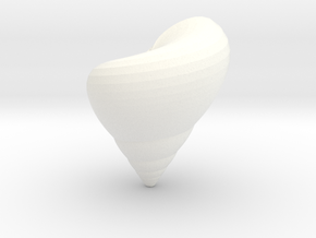 Oxystele Shell in White Strong & Flexible Polished