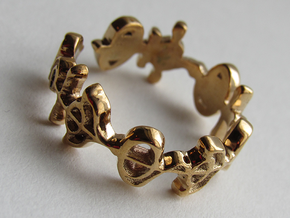 """""""Illogical"""" Vulcan Script Ring - Cut [Size 7.5] in Polished Bronze"""
