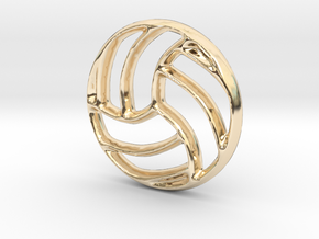 Volleyball Charm - 11mm in 14K Gold