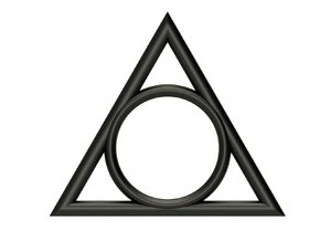 Ring The triangle II/ size 6 US (16.5 mm) in Black Strong & Flexible
