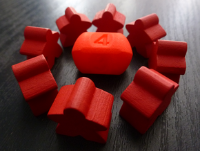 Four sided roller die in Red Strong & Flexible Polished