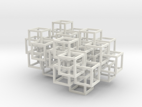 Interlocked Cubes in White Strong & Flexible