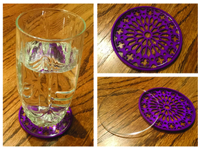 "3-1/4"" Coaster 3 (Insert) in Purple Strong & Flexible Polished"