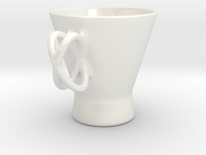 Coffee Mug (Cross Handle) in Gloss White Porcelain