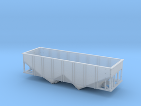 N Scale 55 Ton U Channel Hopper  in Frosted Extreme Detail