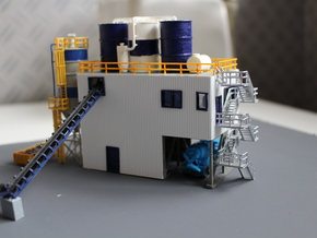 N Scale Concrete Plant Silos in White Strong & Flexible
