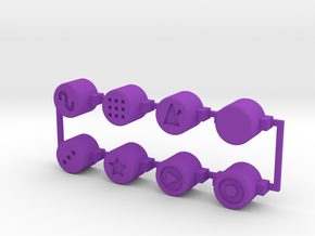 PO-20 control buttons in Purple Strong & Flexible Polished