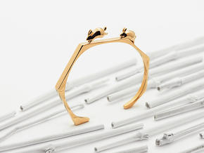Nº09 Chasing Rabbits Cuff (Multiple Wrist Sizes) in Polished Bronze