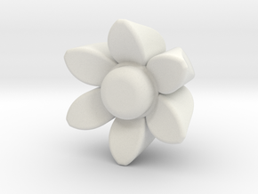 Flower Guitar Knob in White Strong & Flexible