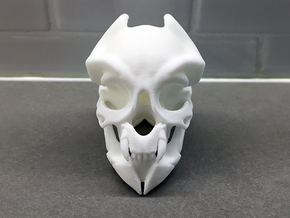 Miniature alien skull in White Strong & Flexible