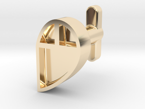 Right Cufflink in 14k Gold Plated