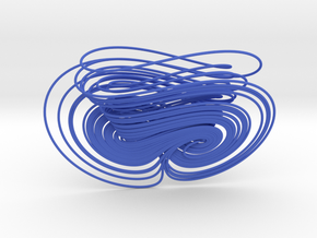 0518 Chen Attractor (10 cm) in Blue Strong & Flexible Polished