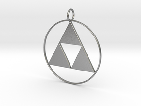 Triforce pendant in Raw Silver