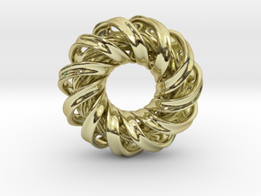 No 83 Mobius earring 2cm in 18k Gold Plated