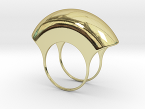 Lid for Pillbox Ring - size 10 in 18k Gold Plated