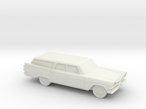 1-87 1957 Dodge Royal Station Wagon in White Strong & Flexible