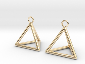 Pyramid triangle earrings in 14k Gold Plated