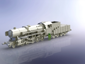 German BR 52 Steamloco w. K 4 T 30 Tender 1/285 in Frosted Ultra Detail