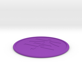 Lee Coaster  in Purple Strong & Flexible Polished