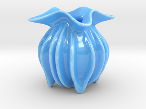 Ocean Form Creamer in Gloss Blue Porcelain