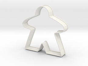 Meeple Cookie Cutter in White Strong & Flexible