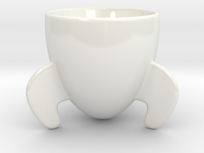Rocket Espresso Cup in Gloss White Porcelain