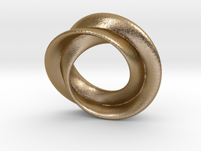 Mobius rose 26mm in Polished Gold Steel