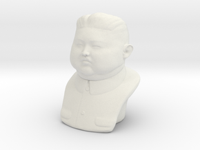 Kim Jong-un bust - smalle version in White Strong & Flexible