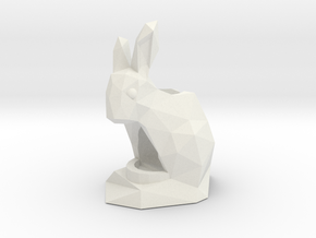Rabbit Pencil & Pen Holder in White Strong & Flexible