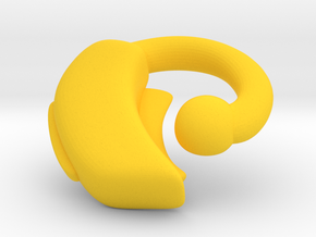 Makies Hearing Aid: RIGHT EAR in Yellow Strong & Flexible Polished