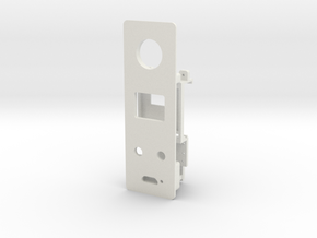 Starplat - Faceplate for 12mm Fire Switch in White Strong & Flexible