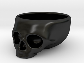 The Cranium Mug in Matte Black Porcelain