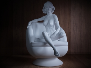 1/32 Girl sitting Chair Part of Girl 015 in Frosted Ultra Detail