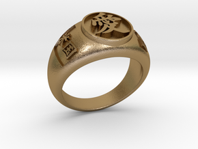 Ai(Love) ring Jp18 US9 in Polished Gold Steel