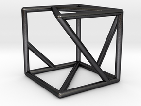 DATA IN EXILE — Tessellate / Cube in Polished Grey Steel