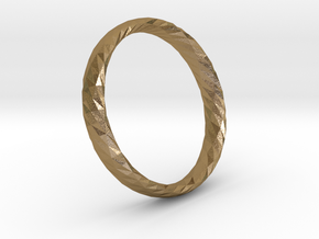 Twistium - Bracelet P=200mm h15 in Polished Gold Steel