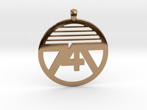 747 Necklace in Polished Brass