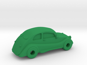Cubla 2 - Plastic in Green Strong & Flexible Polished