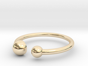 Double Dot ring size 5 in 14K Gold