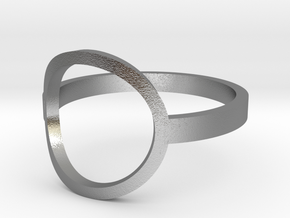 Circle Ring Size 6 in Raw Silver