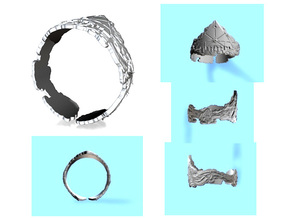 Cloud Ships Lightning, Ring Size 12 in White Strong & Flexible