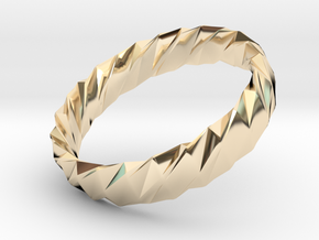 Twistium - Bracelet P=170mm h15 Alpha in 14k Gold Plated