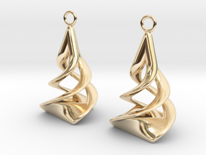 Twist earrings in 14k Gold Plated