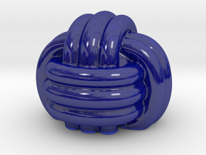 Knot Porcelain smoothed in Gloss Cobalt Blue Porcelain