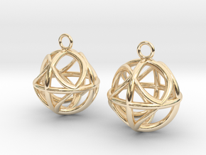 Ball earrings in 14k Gold Plated