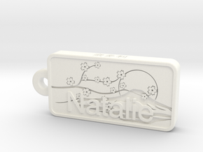 Natalie Name Japanese tag in White Strong & Flexible Polished
