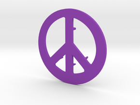 Peace Sign Shower Drain Cover in Purple Strong & Flexible Polished