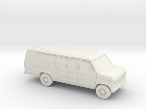 1/87 1975-91 Ford E-Series Van Extended in White Strong & Flexible